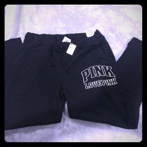 🔥🔥🔥 Love Pink Cut off sweatpants 🔥🔥🔥